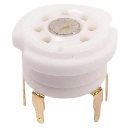 Support de tube céramique 7 pin plaqués Or 6Z4 6X4 EZ90