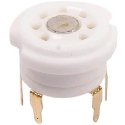 Ceramic tube holder 7 pins gold plated 6Z4 6X4 EZ90