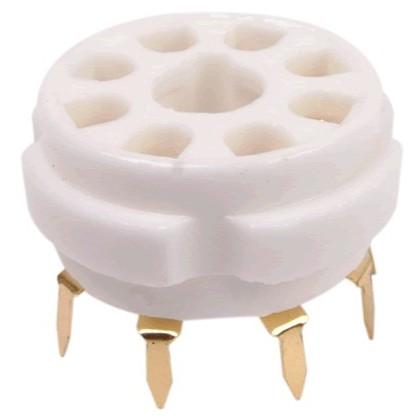 Support de tube céramique 8 pin plaqués Or FU50 5Z8P