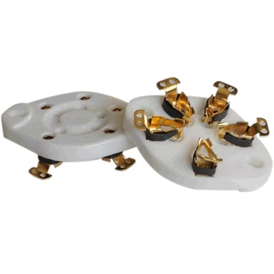 Gold-plated 5-pin Ceramic Tube Holder Gold 807 2E22 27