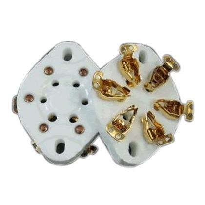 Support de tube céramique 6 pin plaqués Or 310A 6C6 6D6