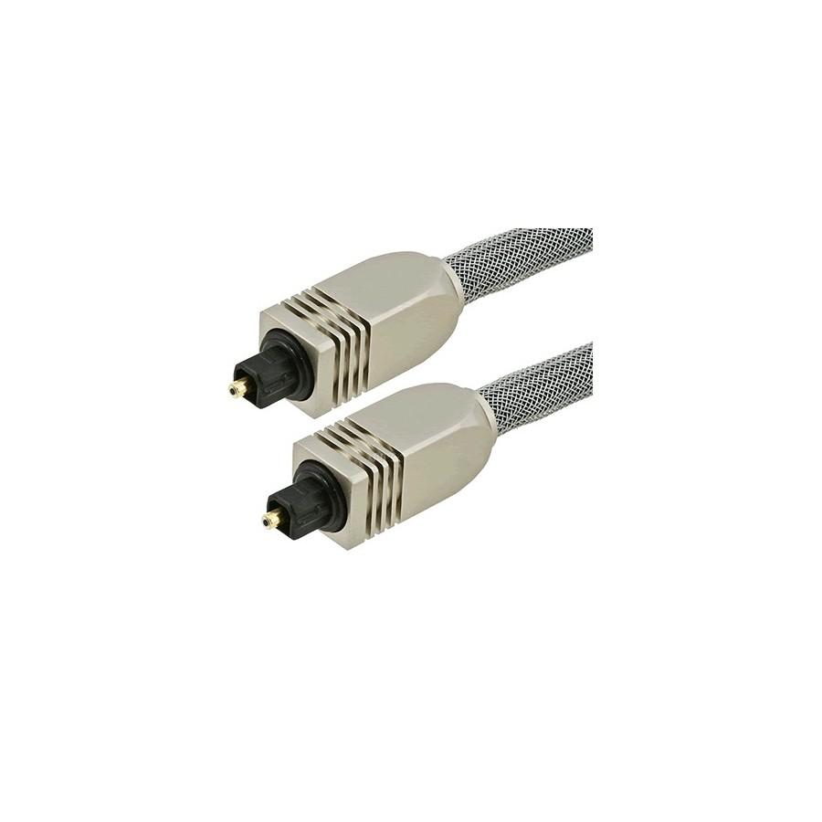 fibre optique toslink spdif connecteurs m tal et gaine 15m audiophonics. Black Bedroom Furniture Sets. Home Design Ideas