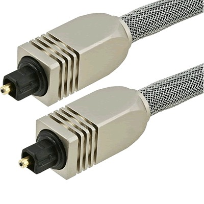 Fibre optique Toslink SPDIF Connecteurs métal et gaine 15m