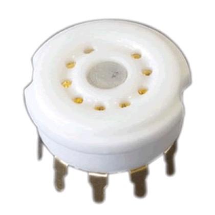 Support de tube céramique 9 pin plaqués Or 6N4 12AX7 12AU7 E88CC