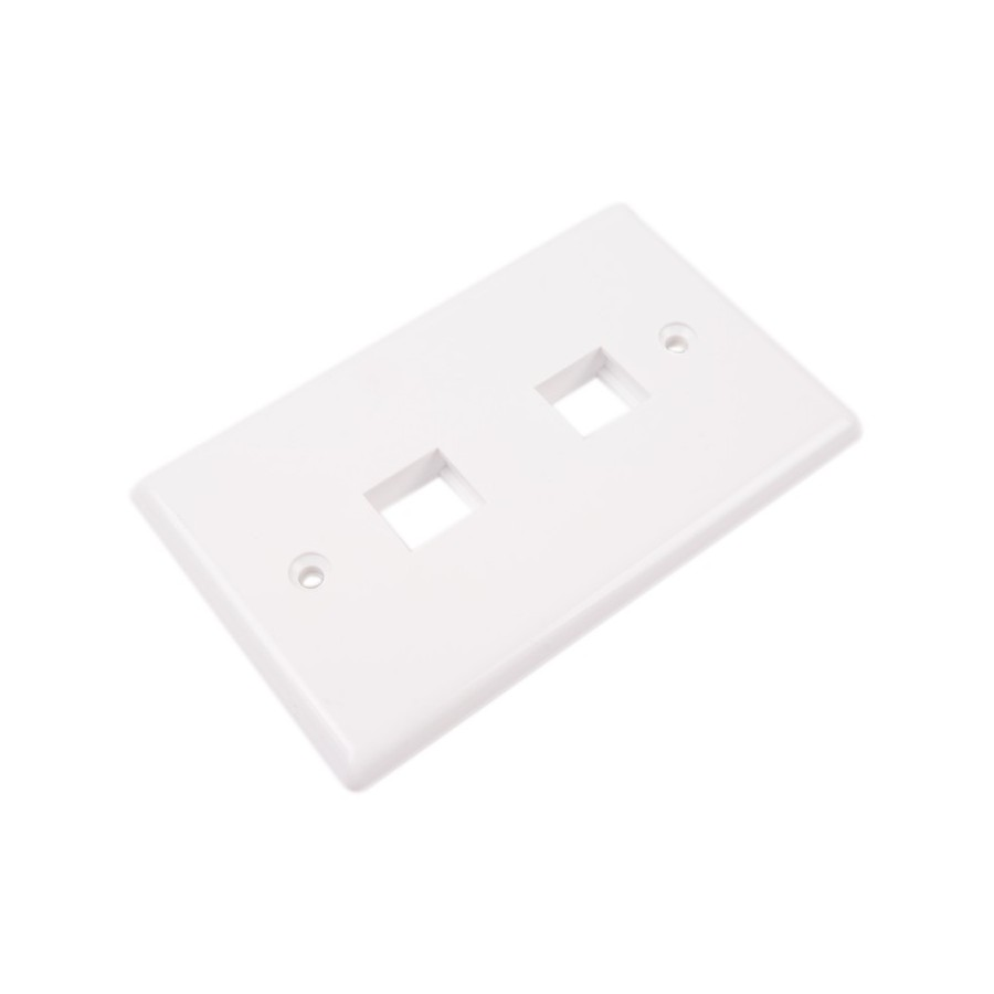keystone modular wall plates 2 hole audiophonics. Black Bedroom Furniture Sets. Home Design Ideas