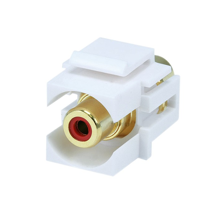 Keystone RCA-RD-FL Recessed RCA Header (Red)