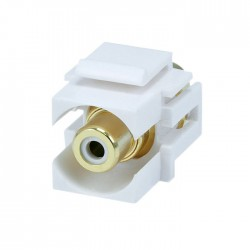 Keystone RCA-WH-FLI Recessed RCA Header (White)