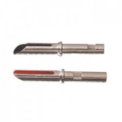 ELECAUDIO TE-B25AG Banana Plug Silver plated Cuivre Tellurium (La paire)