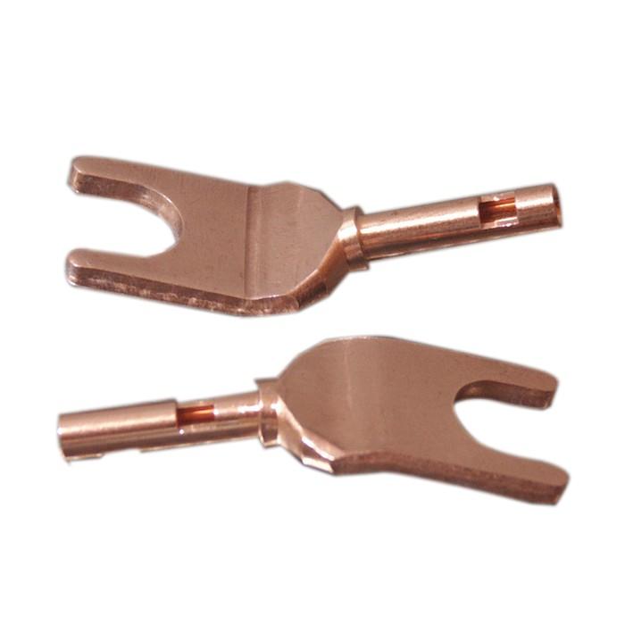 ELECAUDIO TE-F25NP Spade Plug Tellurium Copper (La paire)