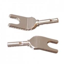 ELECAUDIO TE-F25AG Spade Plug Tellurium Copper (La paire)