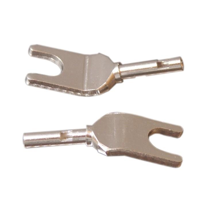 ELECAUDIO TE-F25AG Fourches Cuivre Tellurium Ø2.5mm (La paire)