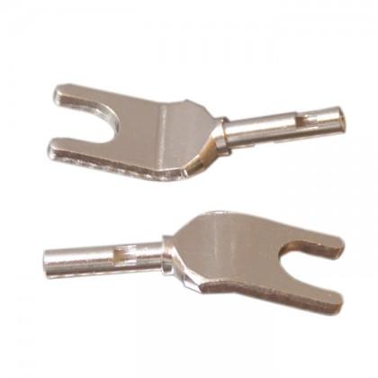 ELECAUDIO TE-F38AG Fourches Cuivre Tellurium (La paire) Ø 3.8 mm