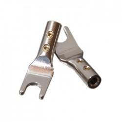 ELECAUDIO TE-FS40AG Spade Plug Tellurium Copper Silver Plated Ø 4mm (La paire)