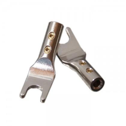 ELECAUDIO TE-FS40AG Fourches Cuivre Tellurium (La paire) Ø 4.0mm