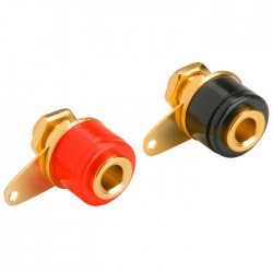 DAYTON AUDIO female Banana Plug Gold Plated (La paire)