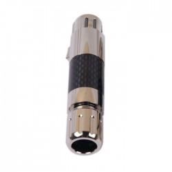 WM AUDIO XLR-95R Connecteur XLR Femelle 3 Pôles Plaqué Rhodium Ø11.5mm Carbone (Unité)