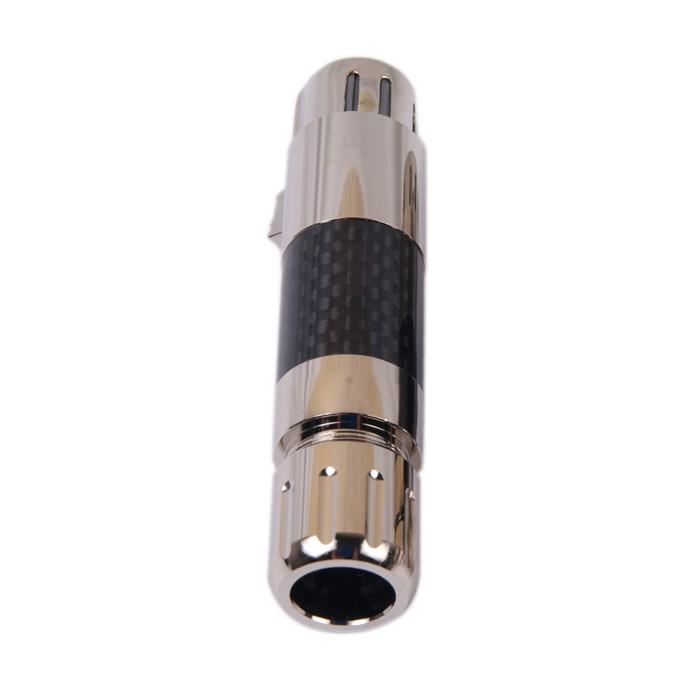 W&M AUDIO XLR-95R Connecteur XLR Femelle 3 Pôles Plaqué Rhodium Ø 11.5mm Carbone (Unité)