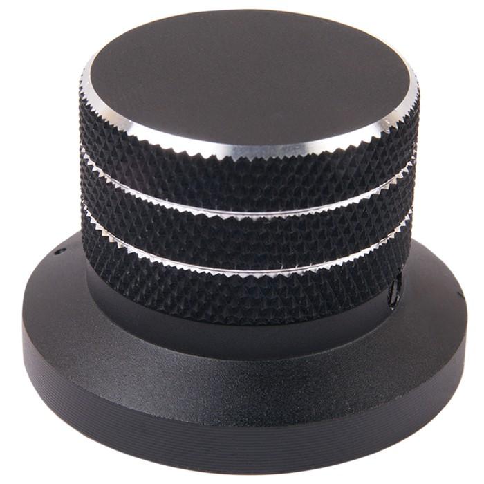 Knob Anodized Aluminum D Shaft 48×33mm Ø6mm Black
