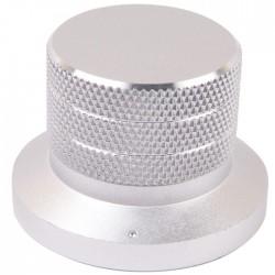 Bouton aluminium 48×33mm Anodisé Gris Axe méplat Ø6mm