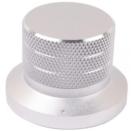 Bouton Aluminium Anodisé Axe Méplat 48×33mm Ø6mm Argent