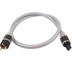 ELECAUDIO CS-361B Câble Secteur OCC Isolation PTFE 3x2.5mm² 1.50m