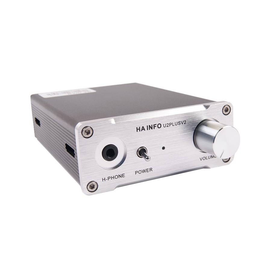 ha info u2 plus v2 headphone amplifier usb 24bit 96 khz tenor 7022 audiophonics. Black Bedroom Furniture Sets. Home Design Ideas