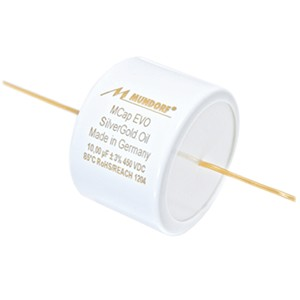 MUNDORF MCAP EVO OIL Condensateur Argent / Or 450V 0.68µF