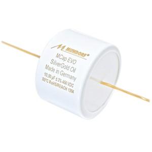 MUNDORF MCAP EVO OIL Condensateur Argent / Or 450V 15µF