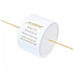 MUNDORF MCAP EVO SILVERGOLD OIL Condensateur Argent / Or 450V 22µF