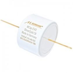 Mundorf MCAP EVO Silver Gold Oil Condensateur. 350VDC. 100.0µF