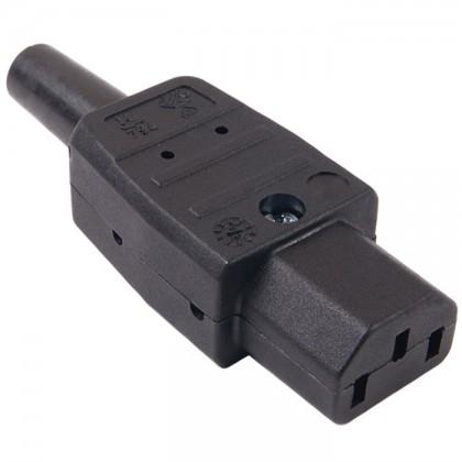 Connecteur IEC C13 2.5mm² plaqué Or pour câble secteur Ø8mm