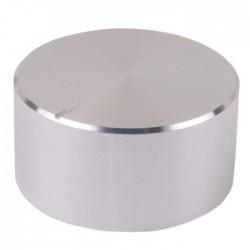 Bouton aluminium 34×17mm Silver pour Axe cranté Ø6mm