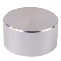 Knob Aluminum Notched Shaft 34 × 17mm Ø6mm Silver