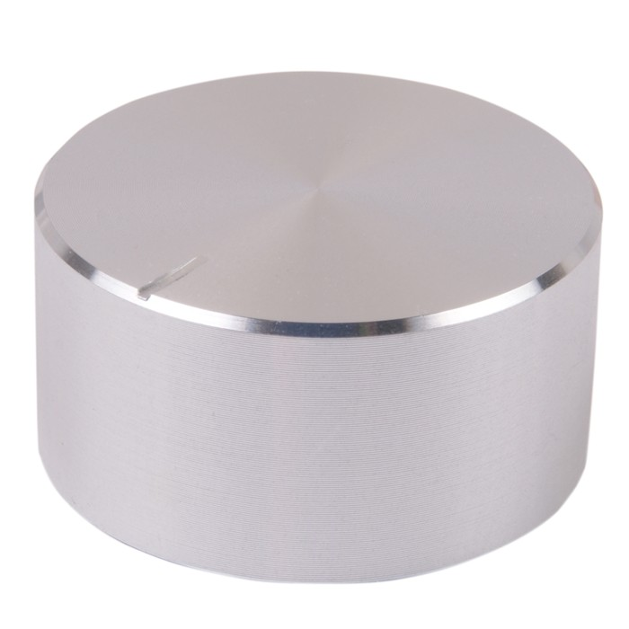 Aluminum knob 34 × 17mm Silver for Axis notched Ø6mm
