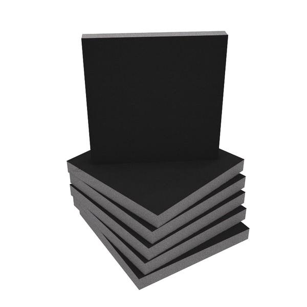 Panneau Mousse Absorbante 50mm Noir (Set x6)