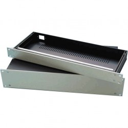 HIFI 2000 Boitier Slimline 1U 350mm - Facade 4mm Silver