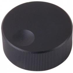 K006B Aluminium knob Black 32×13mm pour Ø 6mm