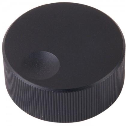 Bouton K006B Aluminium massif Noir 33×13mm pour Ø6mm