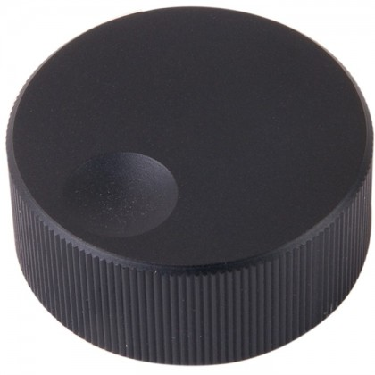 K006B Knob Solid Aluminium 32×13mm Ø6mm Black