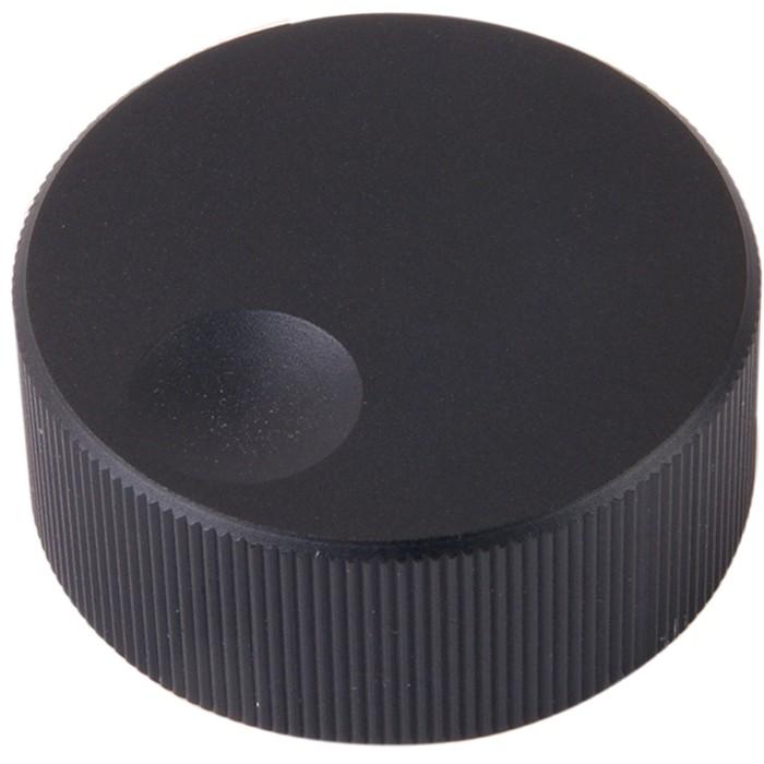 Bouton K006B Aluminium massif Noir 32×13mm pour Ø 6mm