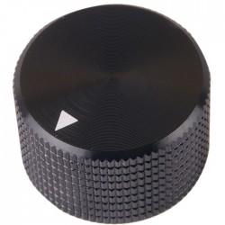 K008B Bouton Aluminium Massif 25x15mm Ø6mm Noir