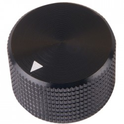 K008B Knob Solid Aluminum 25×15.5mm Ø6mm Black