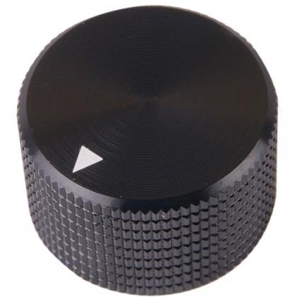 Bouton K008B Aluminium massif Noir 25×15.5mm pour Ø6mm