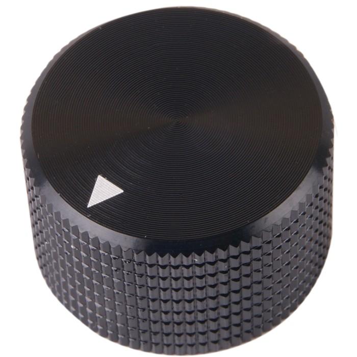 K008B Knob Solid Aluminum 25x15mm Ø6mm Black