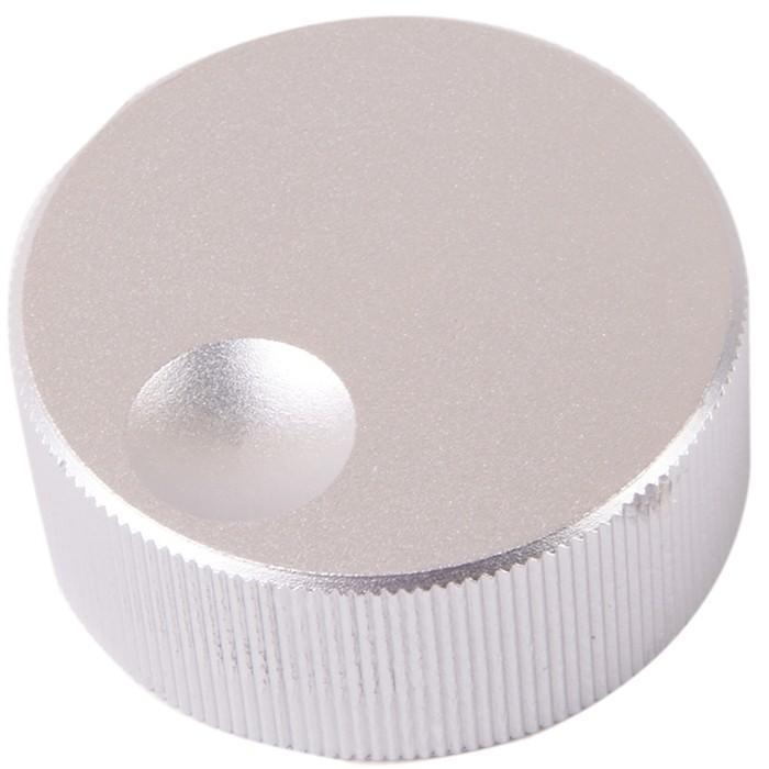 K010S Knob Solid Aluminium 32×13mm Ø6mm Silver