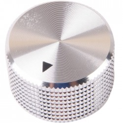 Button K012S Solid Aluminum Silver 25 × 15mm for Ø6mm