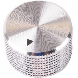 K012S Knob Solid Aluminum 25x15mm Ø6mm Silver