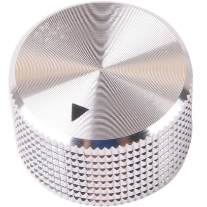 K012S Knob Solid Aluminum 25×15mm Ø6mm Silver
