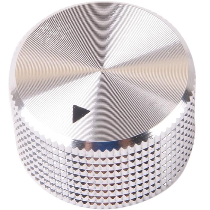 Bouton K012S Aluminium massif Argent 25×15mm pour Ø6mm
