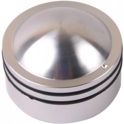 K014S Knob Solid aluminum 38×26mm Ø6mm Silver